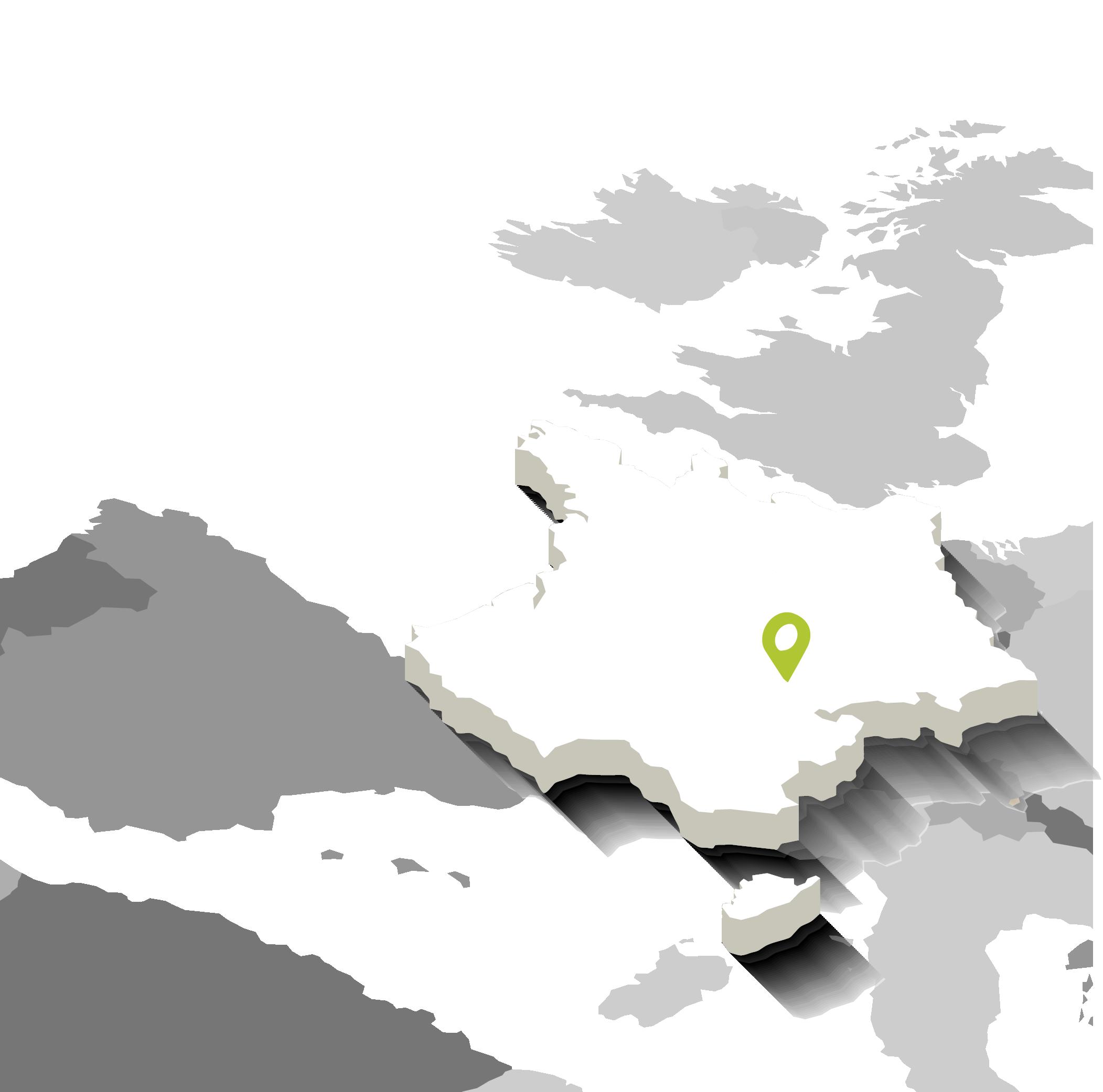 Carte de France - ACTIF centre de formation professionnel